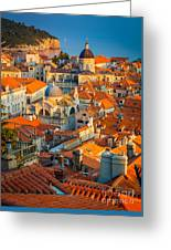 Dubrovnik Sunset Greeting Card