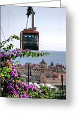 Dubrovniks Cable Car Greeting Card