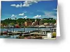 Dubuque Harbor Greeting Card