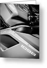 Ducati 1098 Motorcycle -0893bw Greeting Card
