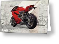 Ducati 1199 Panigale Greeting Card