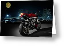 Ducati By Moonlight Greeting Card