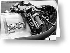 Ducati Desmo Motorcycle -2127bw Greeting Card