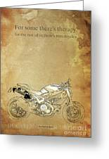 Ducati Motorcycle Quote Greeting Card
