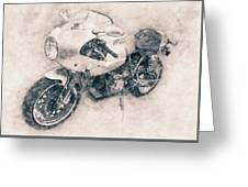 Ducati Paulsmart 1000 Le - 2006 - Motorcycle Poster - Automotive Art Greeting Card