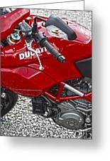 Ducati Red Greeting Card
