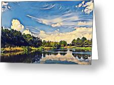 Reflections At Duck Creek Greeting Card