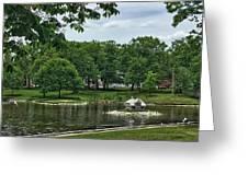 Duck House Deering Oaks Park Portland Maine Greeting Card