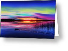 Duck Sunset Greeting Card