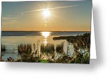 Duck Town Sunset II Greeting Card