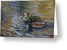 Ducks In The Pond Greeting Card