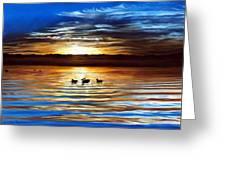 Ducks On Clear Lake Greeting Card