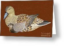 Ducks - Wood Carving Greeting Card
