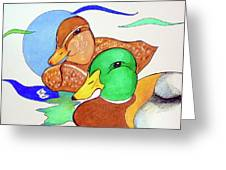 Ducks2017 Greeting Card by Loretta Nash