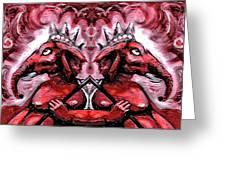 Duel Ganesh Greeting Card