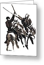Dueling Sabres Greeting Card