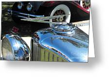 Duesenberg Hood Ornament  Greeting Card