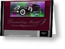 Duesenberg Model J Greeting Card