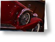 Duesenberg Side View Greeting Card