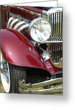 Duesenberg Sj Greeting Card