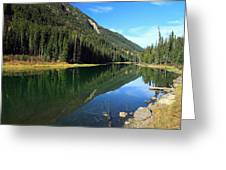 Duffey Lake Reflection Greeting Card