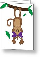 Duffworkscreative_monkeyfunlove_hangin Greeting Card