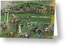 Dufy: Race Track, 1928 Greeting Card