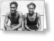 Duke And Sam Kahanamoku Greeting Card