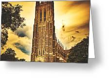 Duke University Chapel At Dusk Greeting Card