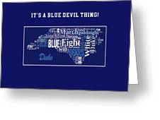 Duke University Fight Song Products Greeting Card