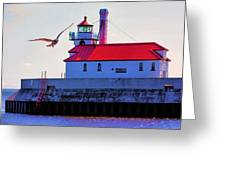 Duluth Lighthouse Greeting Card