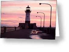 Duluth Sunrise Greeting Card