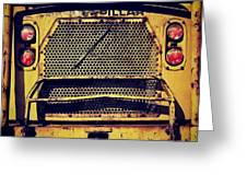 Dump Truck Grille Greeting Card