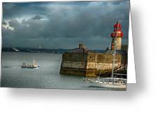 Dun Laoghaire Harbor Lighthouse Greeting Card