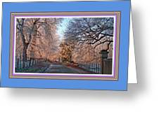 Dundalk Avenue In Winter. L B With Decorative Ornate Printed Frame. Greeting Card