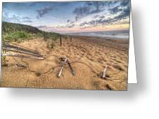 Dune Fencing Down Greeting Card