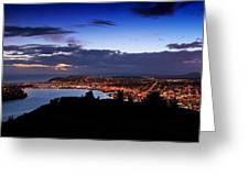 Dunedin By Dusk Greeting Card