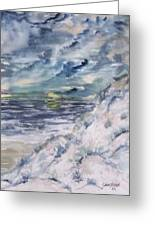 Dunes 2 Seascape Painting Poster Print Greeting Card