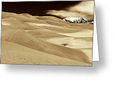 Dunes And Peak Greeting Card