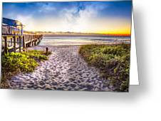 Dunes At The Pier Greeting Card