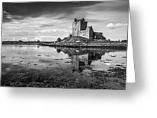 Dunguaire Castle In Black And White Greeting Card