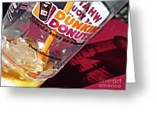 Dunkin Ice Coffee 29 Greeting Card