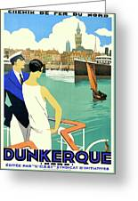 Dunkirk City, View From The Tourist Boat Greeting Card