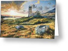 Dunlewy Church Greeting Card by Conor McGuire