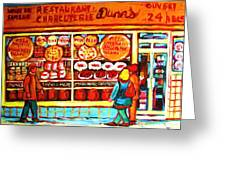 Dunn's Treats And Sweets Greeting Card