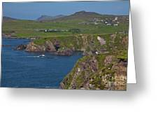 Dunquin Bay And Coast Greeting Card