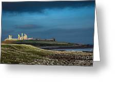 Dunstanburgh Castle In Northumberland Greeting Card
