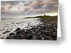 Dunstanburgh Castle Sunset Greeting Card