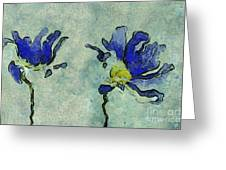 Duo Daisies - 02dp3b22 Greeting Card by Variance Collections