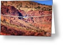 Duo Discus Over Red Rocks  Air Sailing Nevada Greeting Card